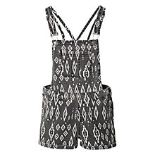 Buy Mango Kids Geometric Dungarees, Black Online at johnlewis.com