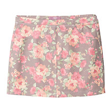 Buy Mango Kids Girls' Flower Print Skirt, Grey/Pink Online at johnlewis.com