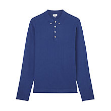 Buy Jigsaw Linen Cotton Knit Polo Shirt Online at johnlewis.com