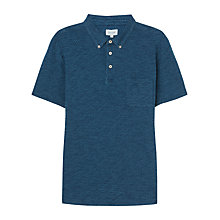 Buy Jigsaw Micro Print Polo Shirt, Indigo Online at johnlewis.com
