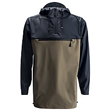 Buy Rains Anorak, Taupe/Navy Online at johnlewis.com