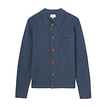 Buy Jigsaw Cotton Linen Trucker Jacket, Navy Online at johnlewis.com