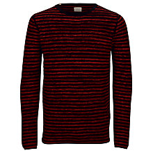 Buy Selected Homme Noise Crew Neck Jumper, Red/Black Online at johnlewis.com