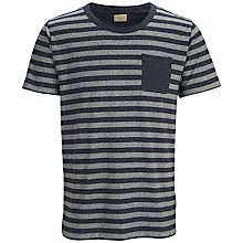 Buy Selected Homme Free Stripe T-Shirt, Navy Blazer Online at johnlewis.com