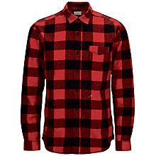 Buy Selected Homme One Cut Long Sleeve Check Shirt, Haute Red Online at johnlewis.com