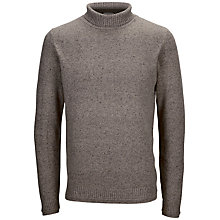 Buy Selected Homme Hyper Roll Neck Jumper, Light Grey Melange Online at johnlewis.com
