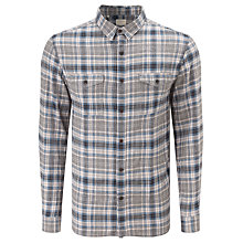 Buy Selected Homme Alberto Check Shirt, Blue Indigo Online at johnlewis.com
