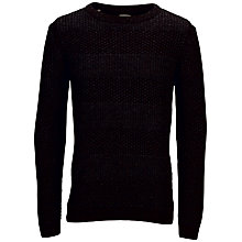 Buy Selected Homme Griffin Crew Neck Jumper, Black Online at johnlewis.com