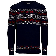 Buy Selected Homme Elias Jumper, Navy Online at johnlewis.com
