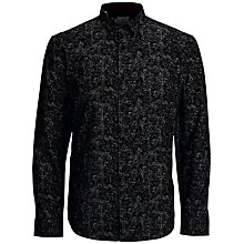 Buy Selected Homme Base Floral Slim Fit Shirt, Black Online at johnlewis.com