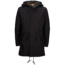 Buy Selected Homme The Iconic Fishtail Parka, Black Online at johnlewis.com
