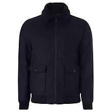 Buy Selected Homme Craft Teddy Bomber Jacket, Dark Navy Online at johnlewis.com