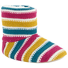 Buy John Lewis Striped Fleece Slipper Boots, Multi Online at johnlewis.com