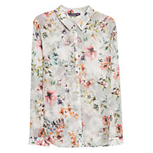 Buy Violeta by Mango Printed Floral Blouse, Beige / Khaki Online at johnlewis.com