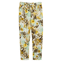 Buy Mango Floral Print Baggy Trousers, Beige/Khaki Online at johnlewis.com