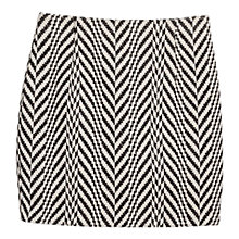 Buy Mango Zig Zag Jacquard Skirt, Black Online at johnlewis.com