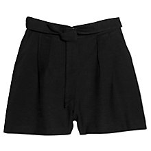 Buy Mango Bow Flowy Shorts, Black Online at johnlewis.com