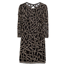 Buy Mango Embroidery Glass Bead Dress, Black Online at johnlewis.com