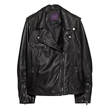 Buy Violeta by Mango Leather Biker Jacket Online at johnlewis.com