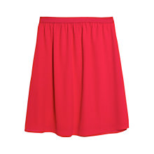 Buy Mango Textured Skirt, Bright Red Online at johnlewis.com
