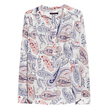 Buy Violeta by Mango Paisley Print Blouse, Bright Purple Online at johnlewis.com