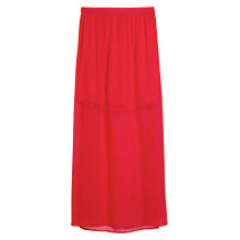 Buy Mango Side Slit Hem Skirt, Bright Red Online at johnlewis.com