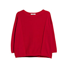 Buy Mango Striped Panel Jumper, Bright Red Online at johnlewis.com