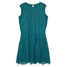 Buy Violeta by Mango Guipure Dress, Bright Green Online at johnlewis.com