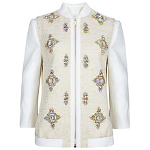 Buy Ted Baker Banwell Embellished Bomber Jacket Online at johnlewis.com