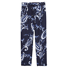 Buy Violeta by Mango Paisley Baggy Trousers, Dark Blue Online at johnlewis.com