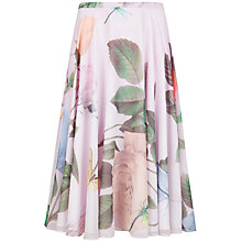 Buy Ted Baker Distinguishing Rose Skirt, Lilac Online at johnlewis.com