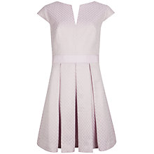 Buy Ted Baker Denai Jacquard Dress, Light Purple Online at johnlewis.com