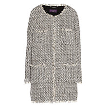 Buy Violeta by Mango Ponte Tweed Jacket, Black Online at johnlewis.com