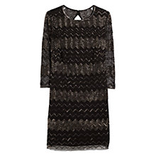 Buy Mango Embroidery Bead Dress, Black Online at johnlewis.com