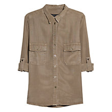 Buy Violeta by Mango Military Soft Blouse, Khaki Online at johnlewis.com