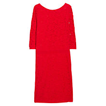 Buy Violeta by Mango Blond Lace Fitted Dress, Bright Red Online at johnlewis.com