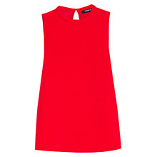 Buy Mango Textured Panel Top, Bright Red Online at johnlewis.com