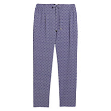 Buy Violeta by Mango Printed Baggy Trousers, Bright Purple Online at johnlewis.com