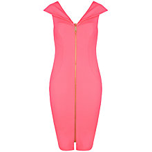 Buy Ted Baker Ravana Bodycon Dress, Coral Online at johnlewis.com