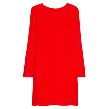 Buy Mango Floral Pattern Dress, Bright Red Online at johnlewis.com
