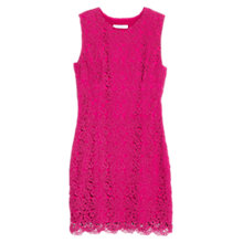 Buy Mango Cut-Out Guipure Lace Dress, Pink Online at johnlewis.com