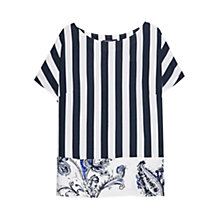 Buy Violeta by Mango Mixed Print Blouse, Dark Blue Online at johnlewis.com