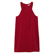 Buy Mango Halter Neck Dress, Dark Red Online at johnlewis.com