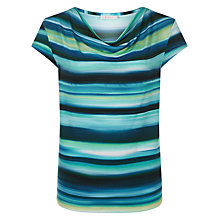 Buy Kaliko Stripe Jersey Top, Dark Green/Multi Online at johnlewis.com