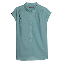 Buy Violeta by Mango Cotton Polka Dot Blouse, Green Online at johnlewis.com