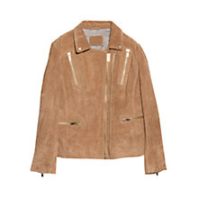 Buy Violeta by Mango Suede Biker Jacket Online at johnlewis.com