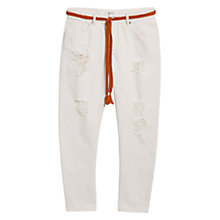 Buy Mango Boyfriend Java Jeans, Light Beige Online at johnlewis.com