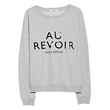 Buy Mango Sequined Message Sweatshirt, Medium Grey Online at johnlewis.com