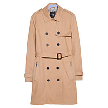 Buy Mango Classic Cotton Blend Trench Coat, Camel Online at johnlewis.com