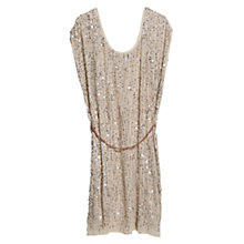 Buy Violeta by Mango Sequin Embellished Dress, Light Pastel Brown Online at johnlewis.com